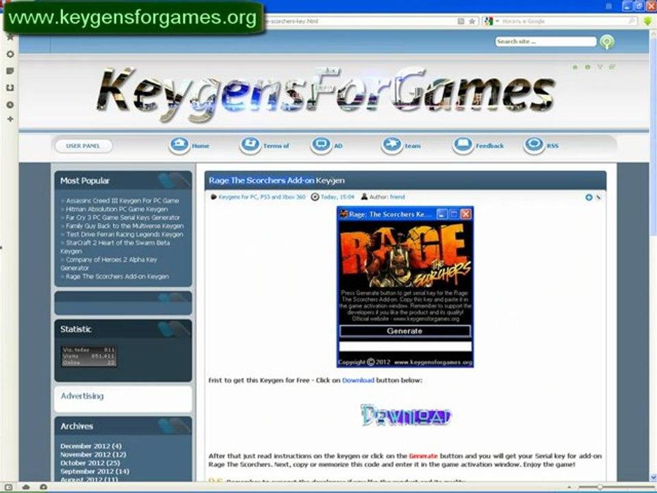 Rage The Scorchers License Keys Codes