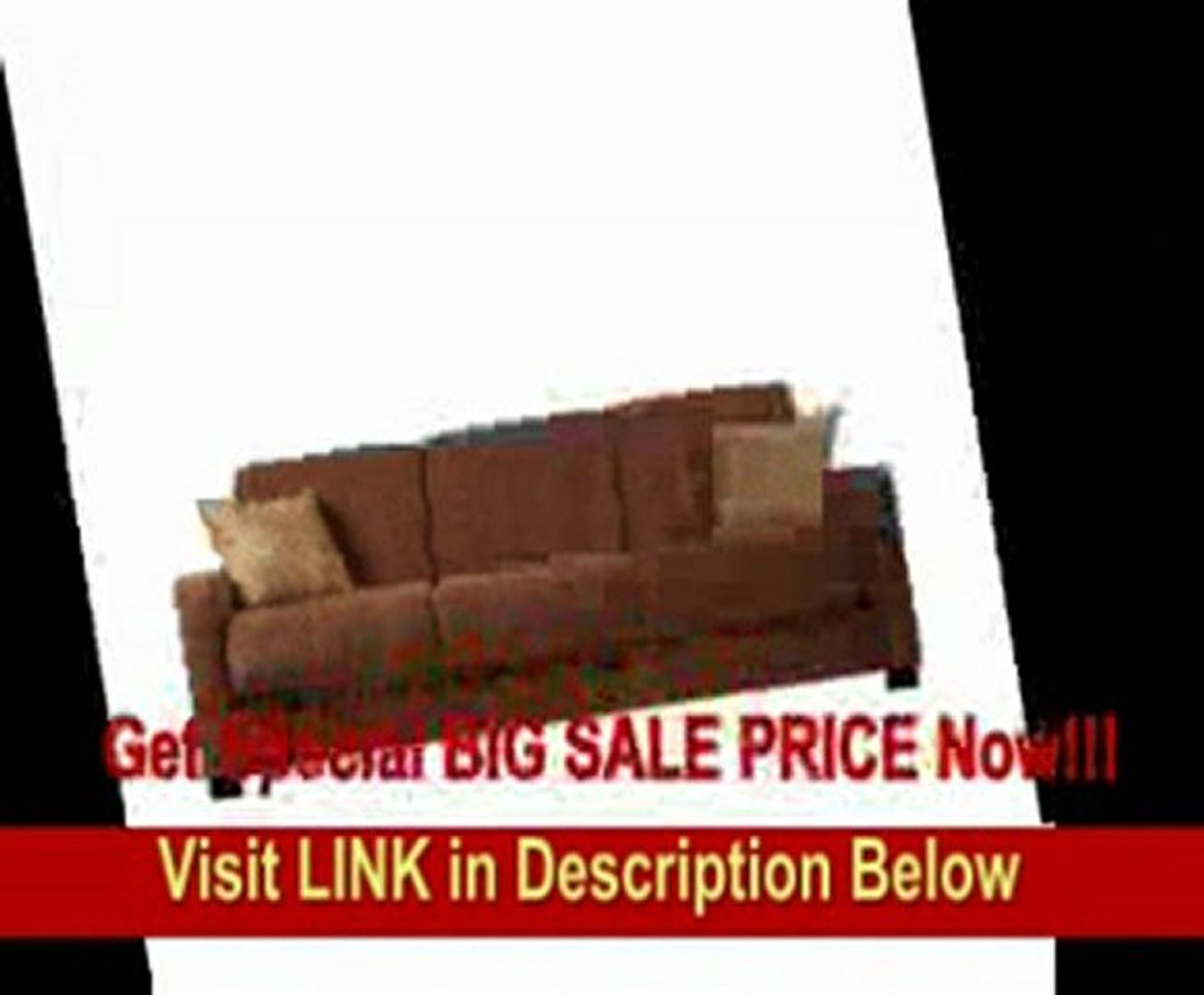 - Handy Living CAC1-S6-HCH87 Cabo Living Room Convert-A-Couch