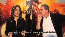 Le Chat Potté : interview d'Antonio Banderas et de Salma Hayek