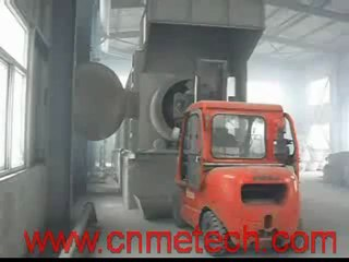 cold dross barrel (dross cooling&crushing&screening system) of cold aluminum dross processing system