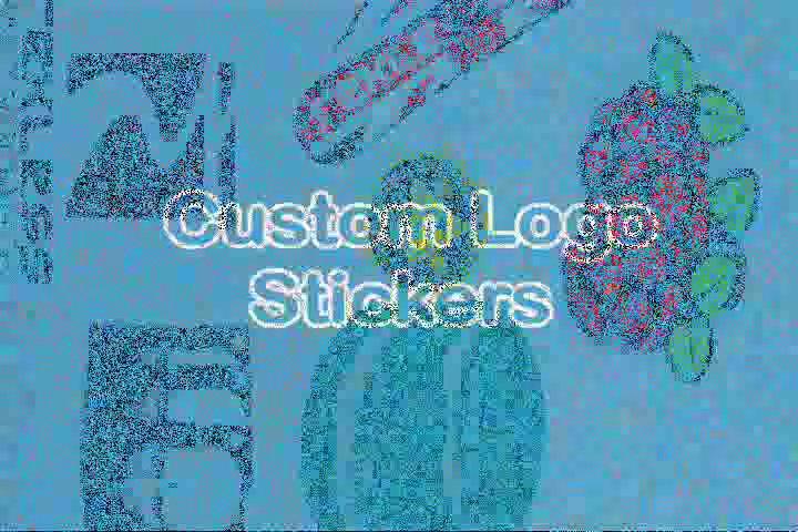 Custom Logo Stickers, Logo Custom Stickers