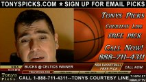 Boston Celtics versus Milwaukee Bucks Pick Prediction NBA Pro Basketball Odds Preview 12-21-2012