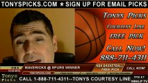 San Antonio Spurs versus Dallas Mavericks Pick Prediction NBA Pro Basketball Odds Preview 12-23-2012