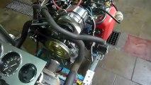Démarrage moteur au banc d'essai