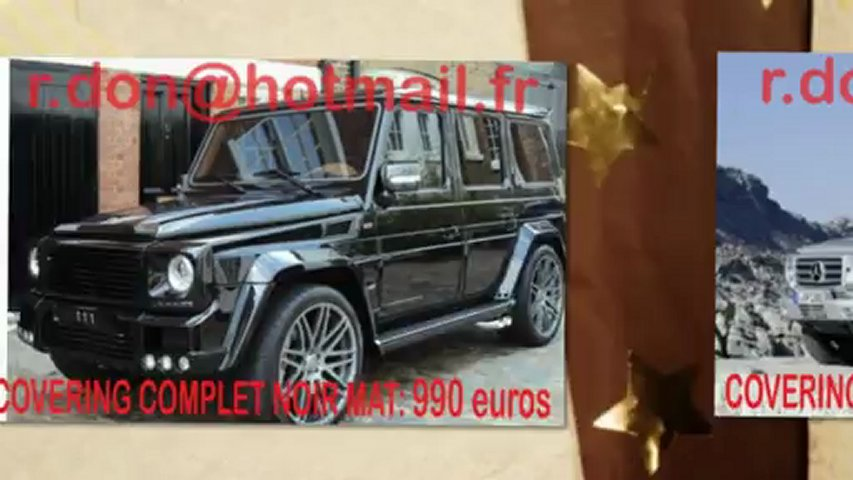 Mercedes Classe G, Mercedes Classe G, essai video Mercedes Classe G, covering Mercedes Classe G, Mercedes Classe G peinture noir mat