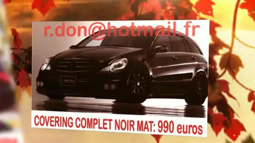 Mercedes Classe R, Mercedes Classe R, essai video Mercedes Classe R, covering Mercedes Classe R, Mercedes Classe R peinture noir mat