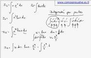 Varias integrales por integracion por partes