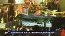 Mégaconcert de Noël à Copacabana avec Stevie Wonder et Gilberto Gil