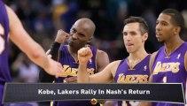 Lakers Welcome Back Nash; Bobcats Lose
