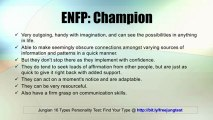 ENFP: Champion -- Jung 16 Personality Types Test Results