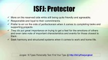 ISFJ: Protector -- Jung 16 Personality Types Test Results