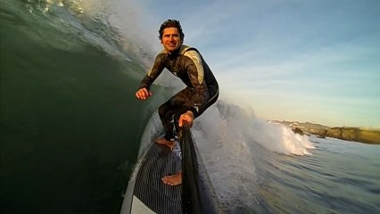 STAND UP PADDLE. Slowmotion Video