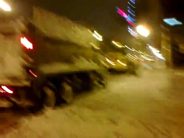 Déneigement des rues de Montréal / Snow removal in the street of Montréal