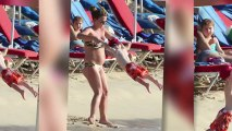 Bikini-Clad Coleen Rooney Shows Off Her Baby Bump in Barbados