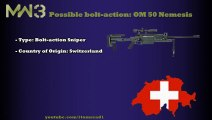 MW3 Guns - Possible BOLT-ACTION SNIPERS - OM 50 Nemesis (MW3 Weapons/ MW3 Snipers)