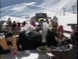 Autruche au ski