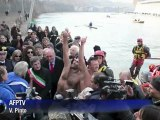 Rome celebrates New Year with fireworks, river dive