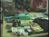 Arms and ammunitions recovered from Maoists.mp4