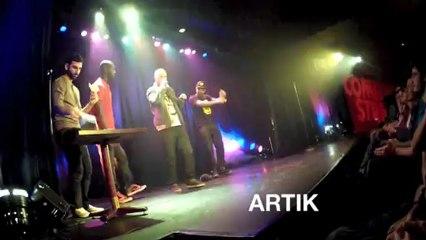 """ARTIK, MUNIK, MIC ORNI chez KHEIRON de """"Bref"""" !! En mode impro freestyle poche !!"""