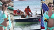 Bikini-Clad Coleen Rooney Takes a Boat Trip in Barbados