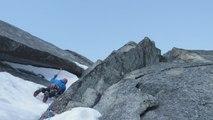 """Mont-Blanc, Aiguilles de Chamonix, face Nord des Pélerins, """"RoCaMaGa"""", 550m, V/5/M5"""
