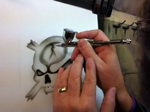 How To Airbrush - Part 2 Step By Step Video - Airbrushing Skulls
