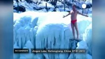 Hotheads jump in China's extreme cold water - no comment
