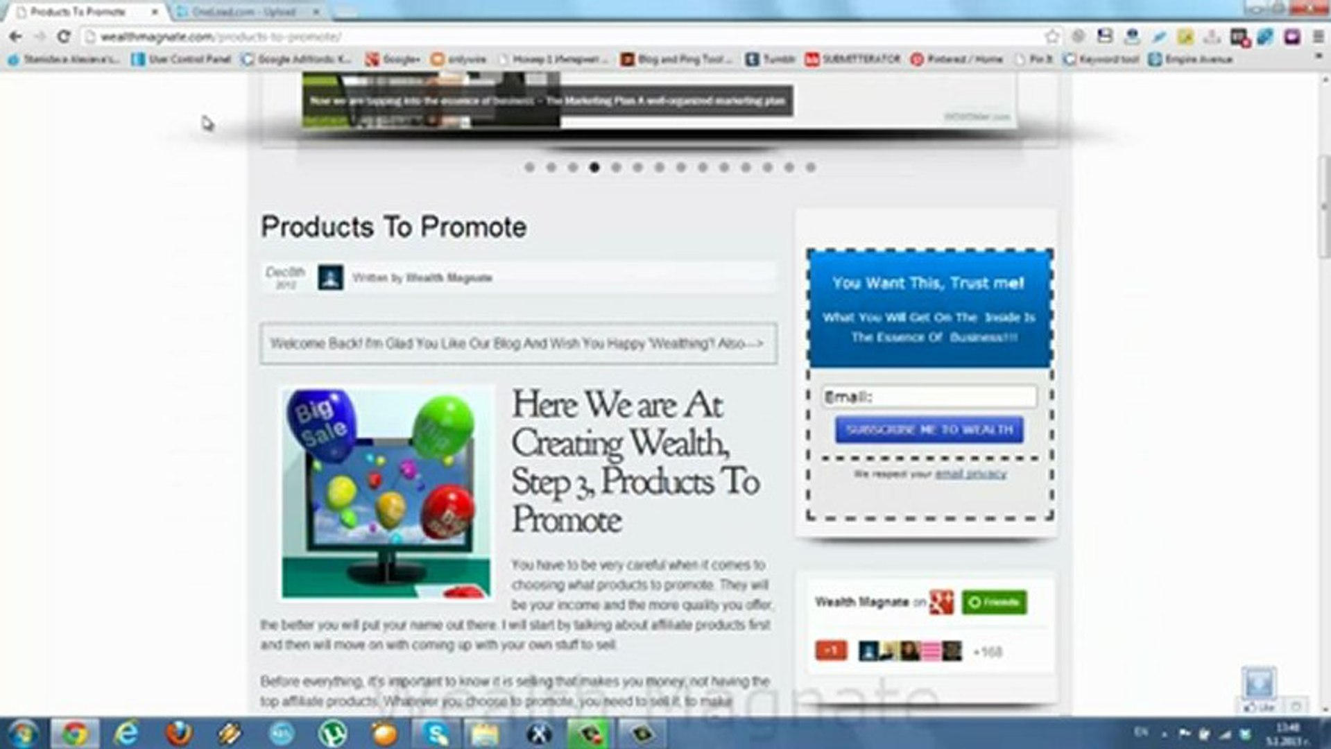 products to promote