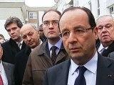 Prise de parole à la sortie de l'Hôtel de Ville de Val-de-Reuil