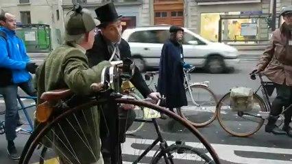 Grand Bi à la traversée de PARIS 06/01/13 Velo Vintage @ Gogo