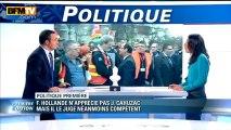 Politique Première : Hollande n'apprécie pas Cahuzac mais le juge compétent