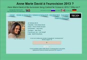 """Anne Marie David """"Je manque de toi"""" Pré-sélection Eurovision 2013"""
