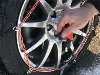 POLAIRE XK9 : passanger car snow Chain fiting - Chaine à neige tourisme montage