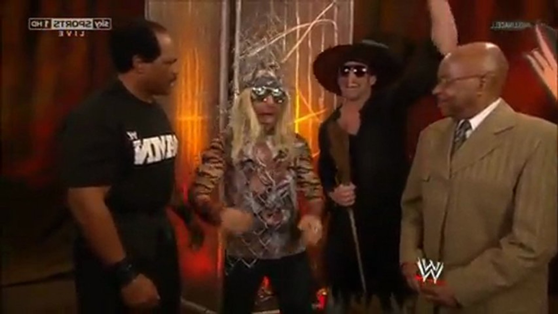 Zack Ryder, Teddy Long, and Eve Torres @ Hell in a Cell (2012)