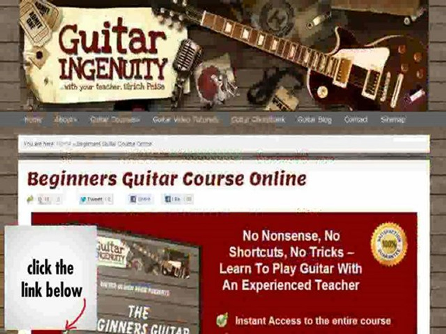Learn How to Play Guitar - Course Online