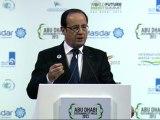 Discours à l'occasion du World Future Energy Summit aux Emirats Arabes Unis