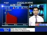 Stocks in news  Reliance Ind, M&M, Alok Inds, Guj NRE Coke