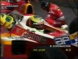 GP Europa, Nurburgring 1999 Pit stop di R.Schumacher e Fisichella al comando