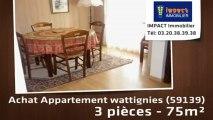 Vente - appartement - wattignies (59139)  - 75m²