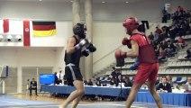 Open de France de Wushu Sportif 2012 / Finale Sanda Juniors -56K / Olivier Moua vs Bilal Tahla
