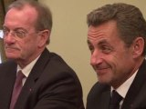 Nicolas Sarkozy rend une visite de courtoisie à Vladimir Poutine
