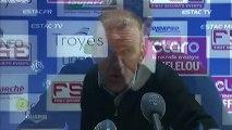 Conférence de presse ESTAC Troyes - Olympique Lyonnais : Jean-Marc FURLAN (ESTAC) - Rémi GARDE (OL) - saison 2012/2013
