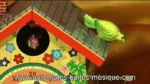 Lutèce Créations, le spécialiste des boîtes à musique et des automates, présente un jouet mécanique en métal et fer blanc de sa collection : La maison aux oiseaux