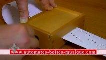 Lutèce Créations, le spécialiste des automates et des boîtes à musique, présente une boîte à musique à manivelle jouant l'air principal du dessin animé Elfen Lied Lilium