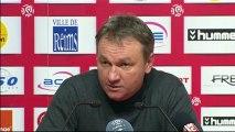 Conférence de presse Stade de Reims - SC Bastia : Hubert FOURNIER (SdR) - Frédéric HANTZ (SCB) - saison 2012/2013