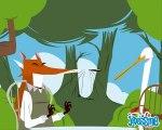 Le Renard et la Cigogne - les Fables de La Fontaine en dessin animé - Jedessine.com