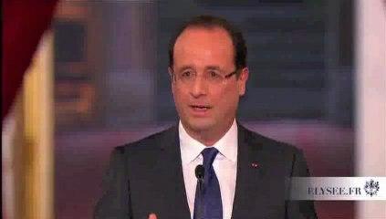 """Hollande """"en aucun cas la France n 'interviendra au Mali"""""""