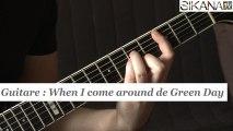 Cours guitare : jouer When I come around de Green Day à la guitare - HD