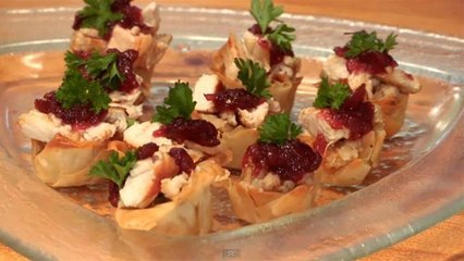How To Make Turkey And Stuffing Canapes