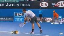 2013Australian Open 3R R.Federer vB.Tomic set1